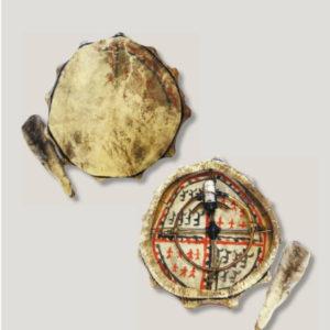 Атрибут шамана: бубен с колотушкой